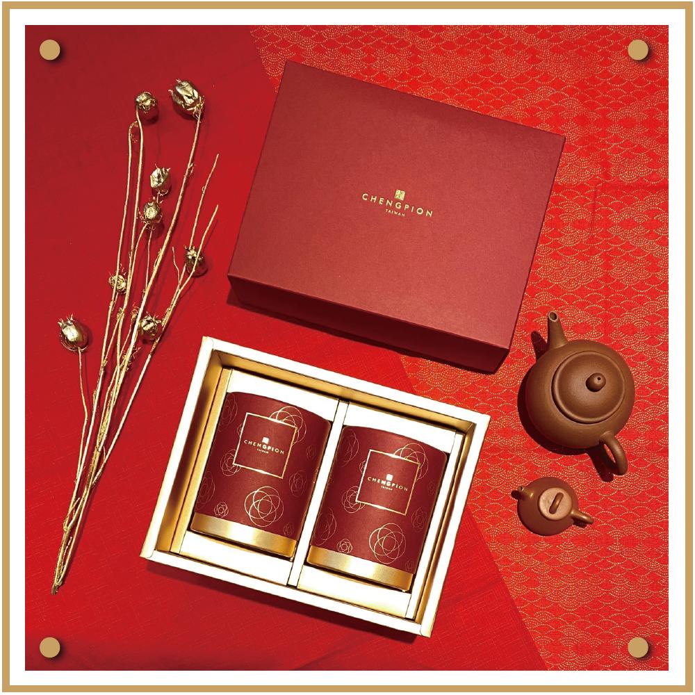 埕畔茶坊|茶葉禮盒|紅、黑色2入|高山茶、烏龍茶|