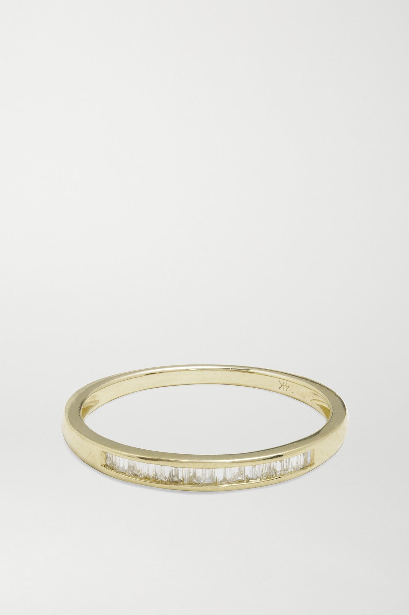 STONE AND STRAND - On The Upside 14-karat Gold Diamond Ring - 5