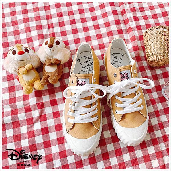 天藍小舖-迪士尼系列刺繡奇奇蒂蒂款女版休閒帆布餅乾鞋-單1款-$890【A27270131】