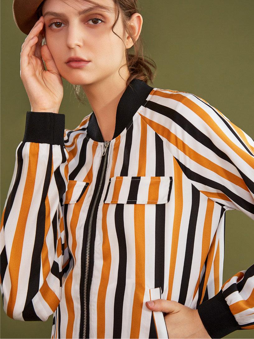 MOMA(02J052)休閒條紋長袖外套