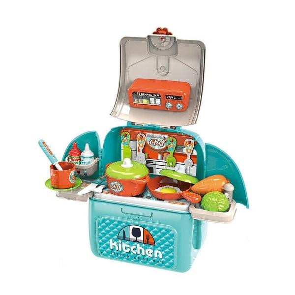 Chef Little Bag 玩具餐具背包組 藍綠色 TOYeGO 玩具e哥