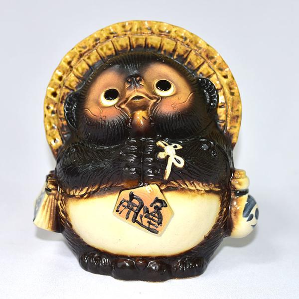 日本製 信樂燒 開運狸 吉祥物 緣起物 22cm