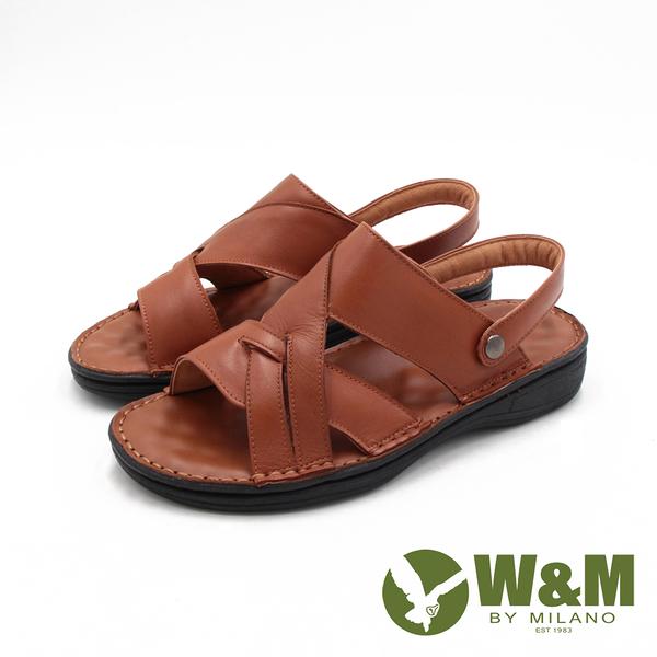 W&M(男)真皮可拆帶兩用涼拖鞋 男鞋-棕(另有黑)