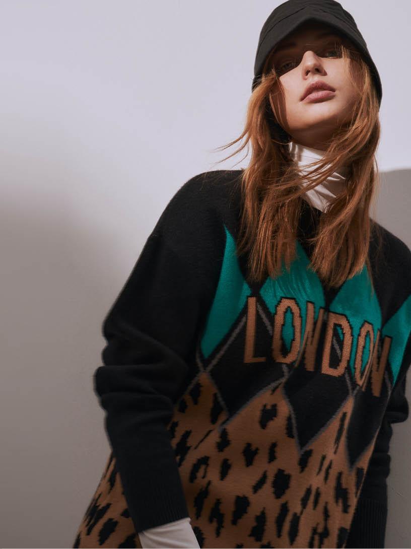 MOMA(02KM46)字母幾何毛織上衣