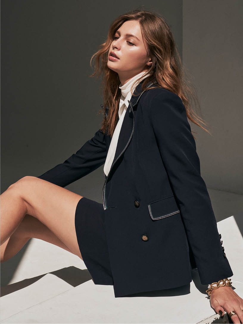 MOMA(02J060)裝飾壓線西裝外套
