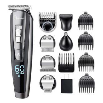 HATTEKER理髮器 鬍鬚修剪 套件 男士 剪髮Groomer Kit USB充電5合1