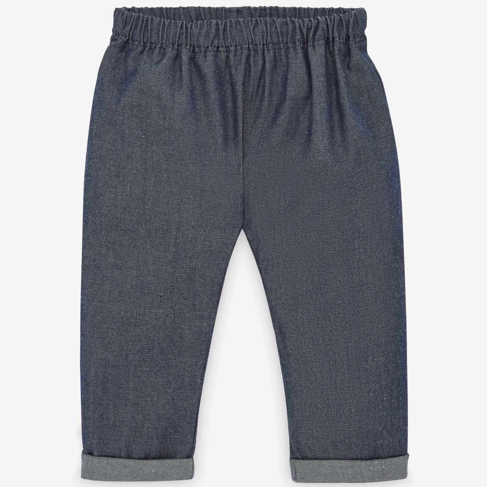 PAZ Rodríguez 西班牙精品童裝 / MILOS 海軍藍棉麻長褲