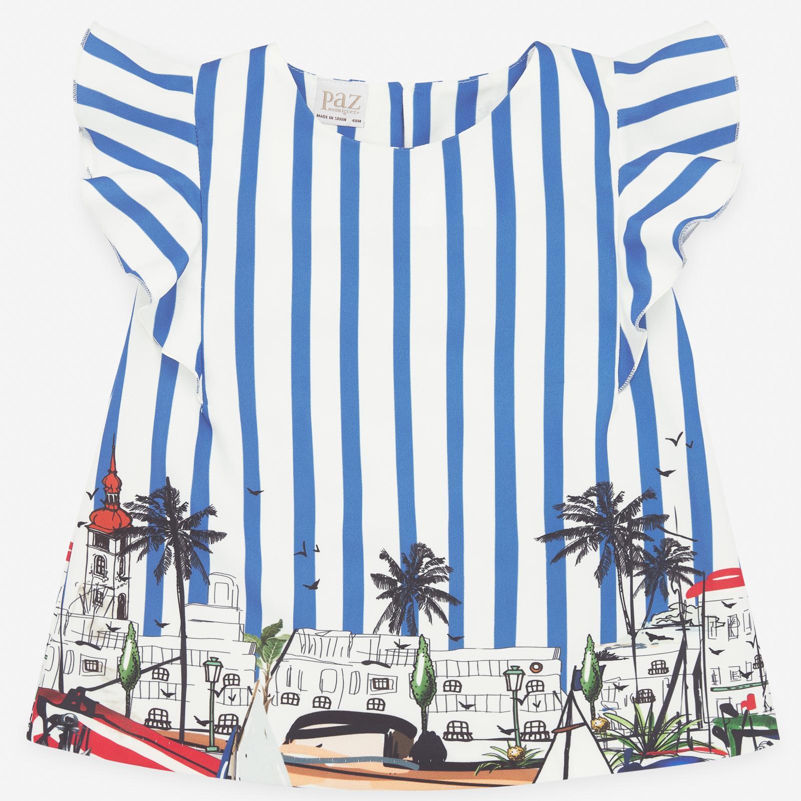 PAZ Rodríguez 西班牙精品童裝 / AMALFI 法蘭風情條紋上衣