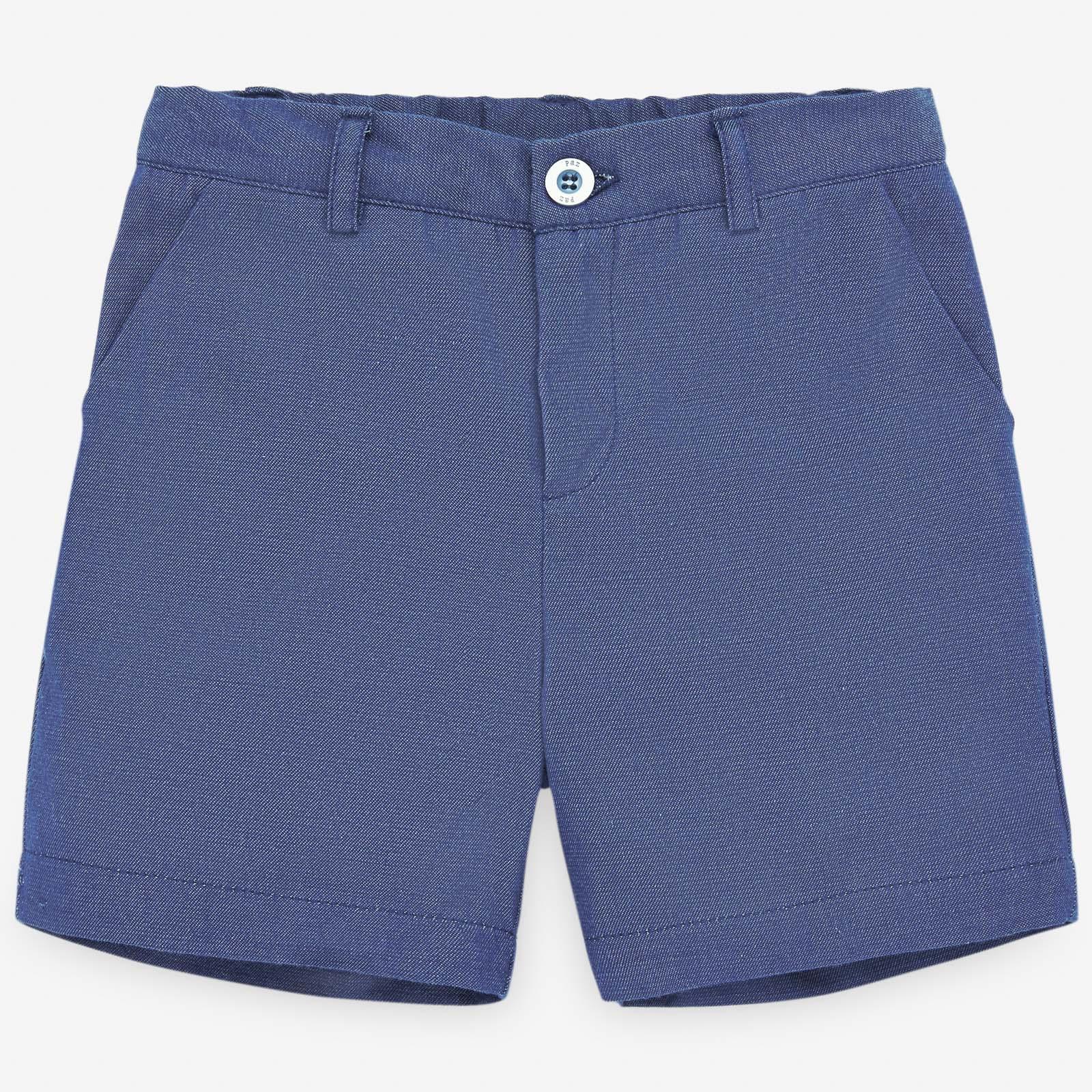 PAZ Rodríguez 西班牙精品童裝 / MILOS 海軍藍棉麻短褲