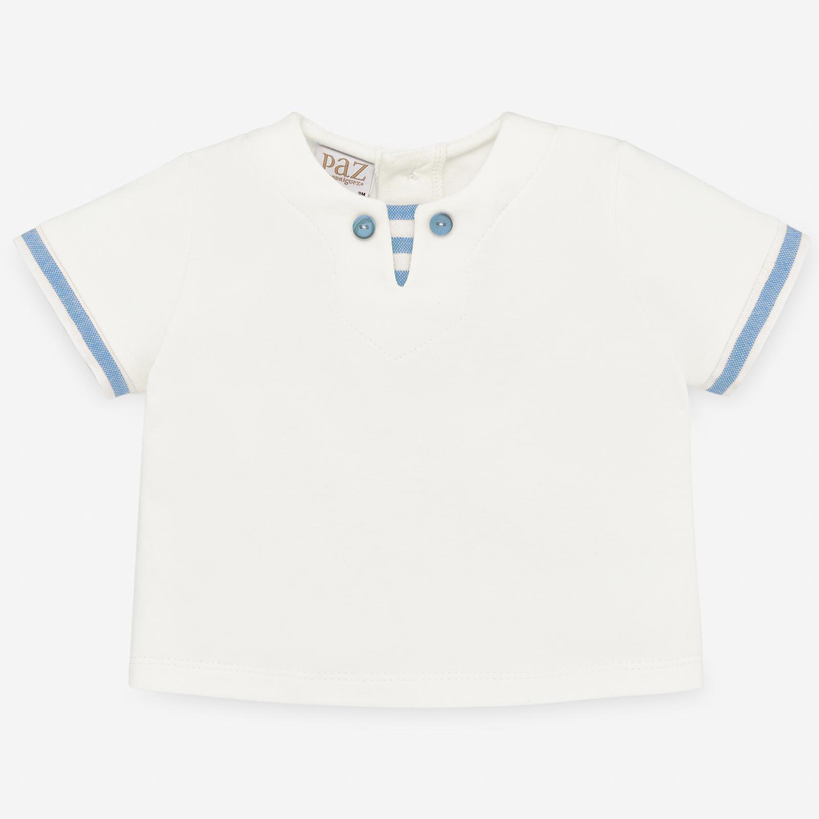 PAZ Rodríguez 西班牙精品童裝 / TULUM 沁藍條紋棉麻上衣