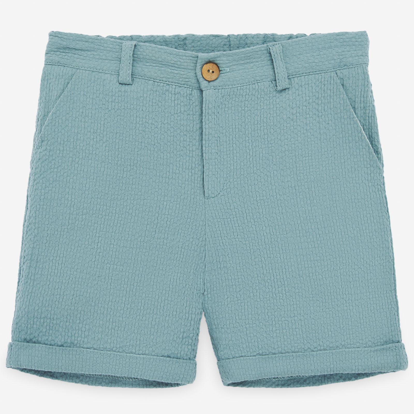 PAZ Rodríguez 西班牙精品童裝 / SICILIA 湖水綠純棉短褲