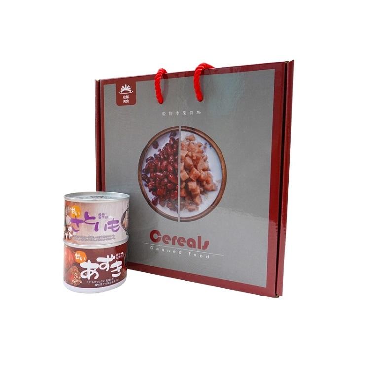 【大寮區農會】松葉食品禮盒組 殼物紅豆(4入)+蜜芋頭(4入)禮盒  台灣製造