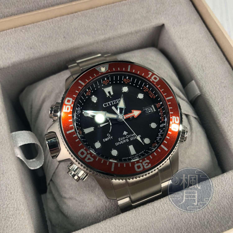 BRAND楓月 CITIZEN 星辰 BN2039-59E 星辰 光動能潛水錶 46.1MM 紅邊 手錶 腕錶 機械錶