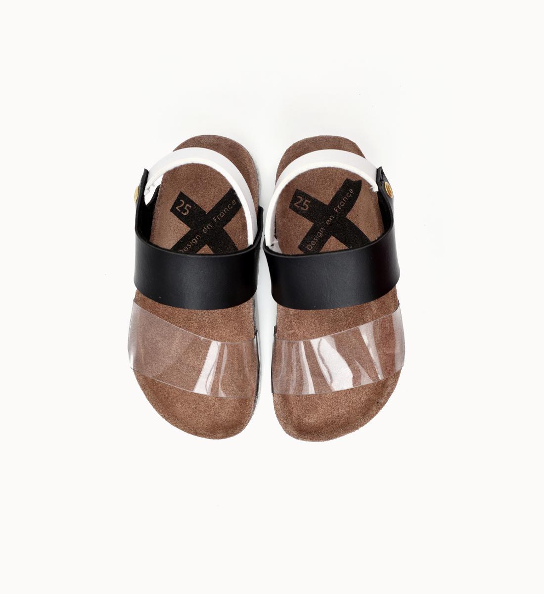 BOXBO 法國時尚涼鞋 / 透明我最炫-時尚黑