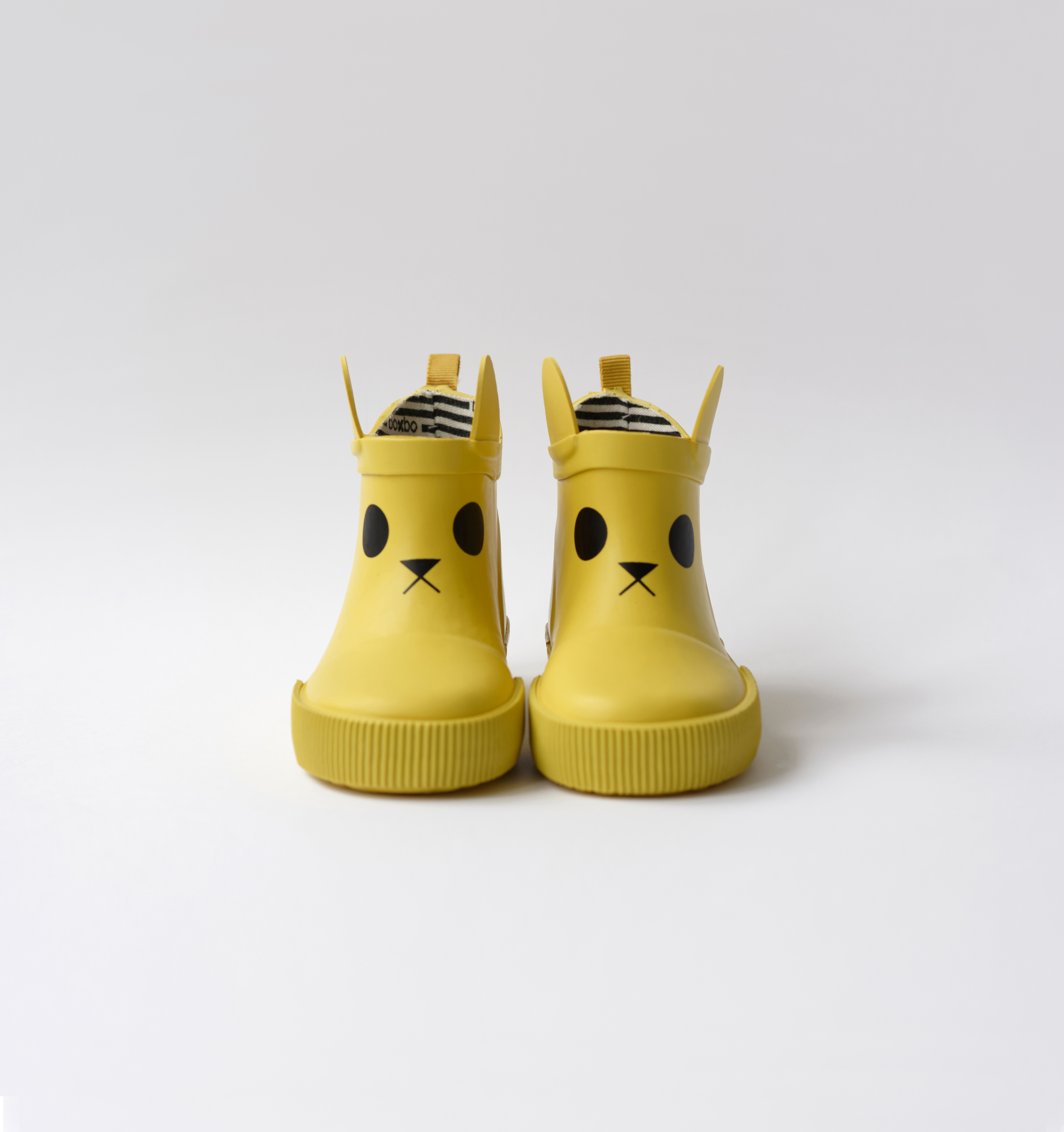 BOXBO 法國時尚雨靴 / 經典時尚雨靴-貓咪黃