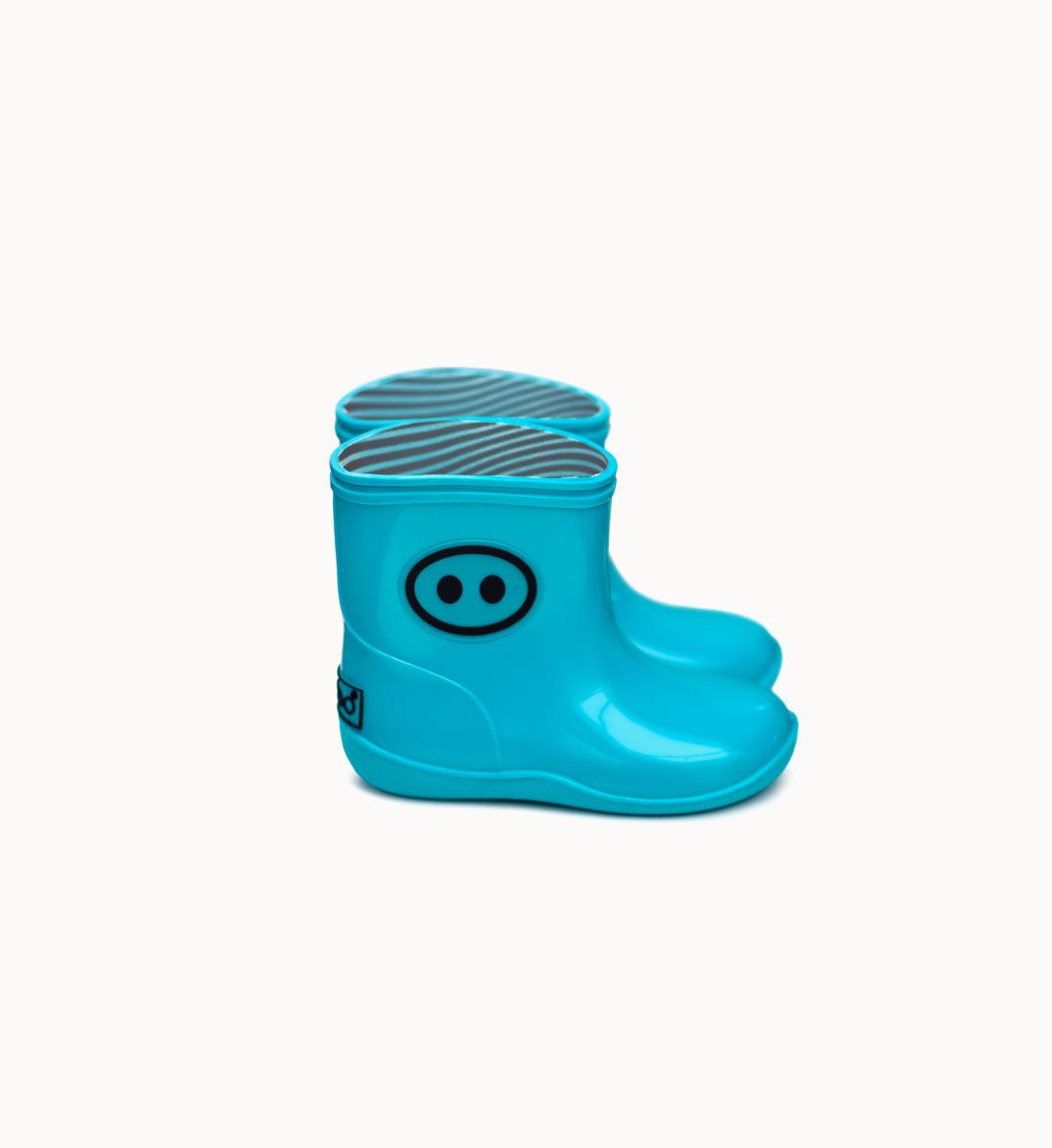 BOXBO 法國時尚雨靴 / 寶寶時尚雨靴-清澈藍