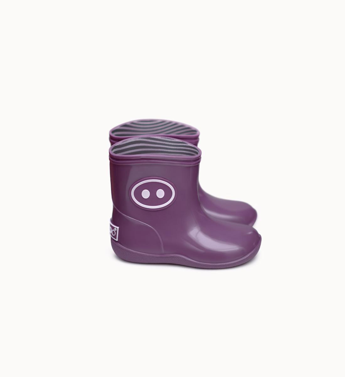 BOXBO 法國時尚雨靴 / 寶寶時尚雨靴-櫻桃紫