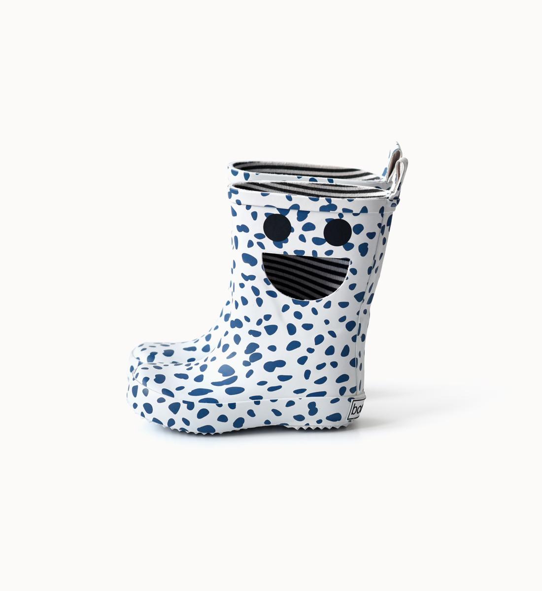 BOXBO 法國時尚雨靴 / 我愛笑瞇瞇系列-麥町藍