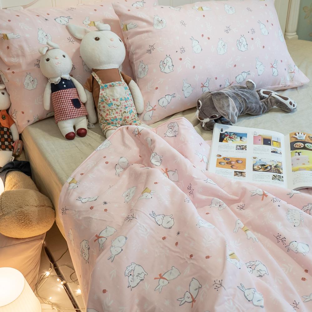二層紗(100%純棉) 涼被與枕套綜合規格賣場 (雪兔) 內有兒童尺寸可選【棉床本舖】