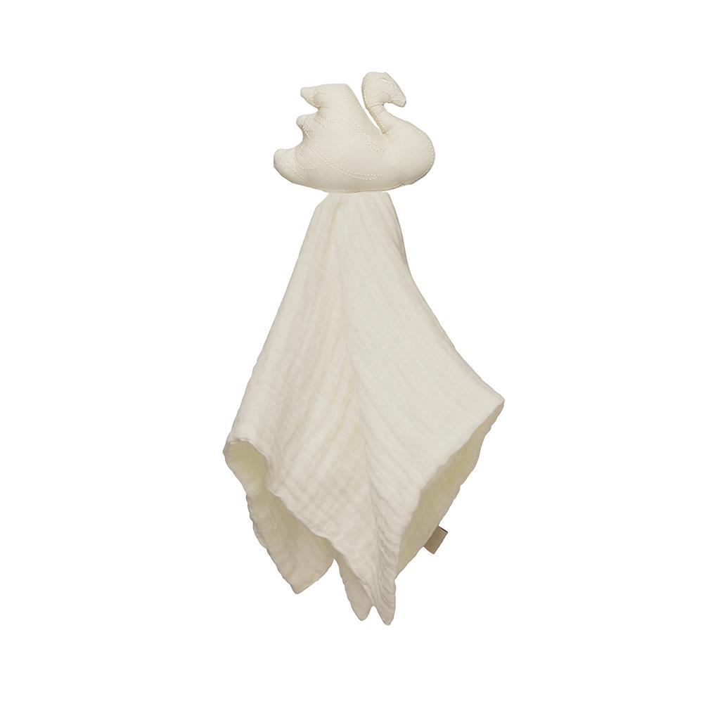 Cam Cam Copenhagen 丹麥有機棉嬰幼兒用品 / 天鵝寶寶有機棉安撫巾 - 沙灘白