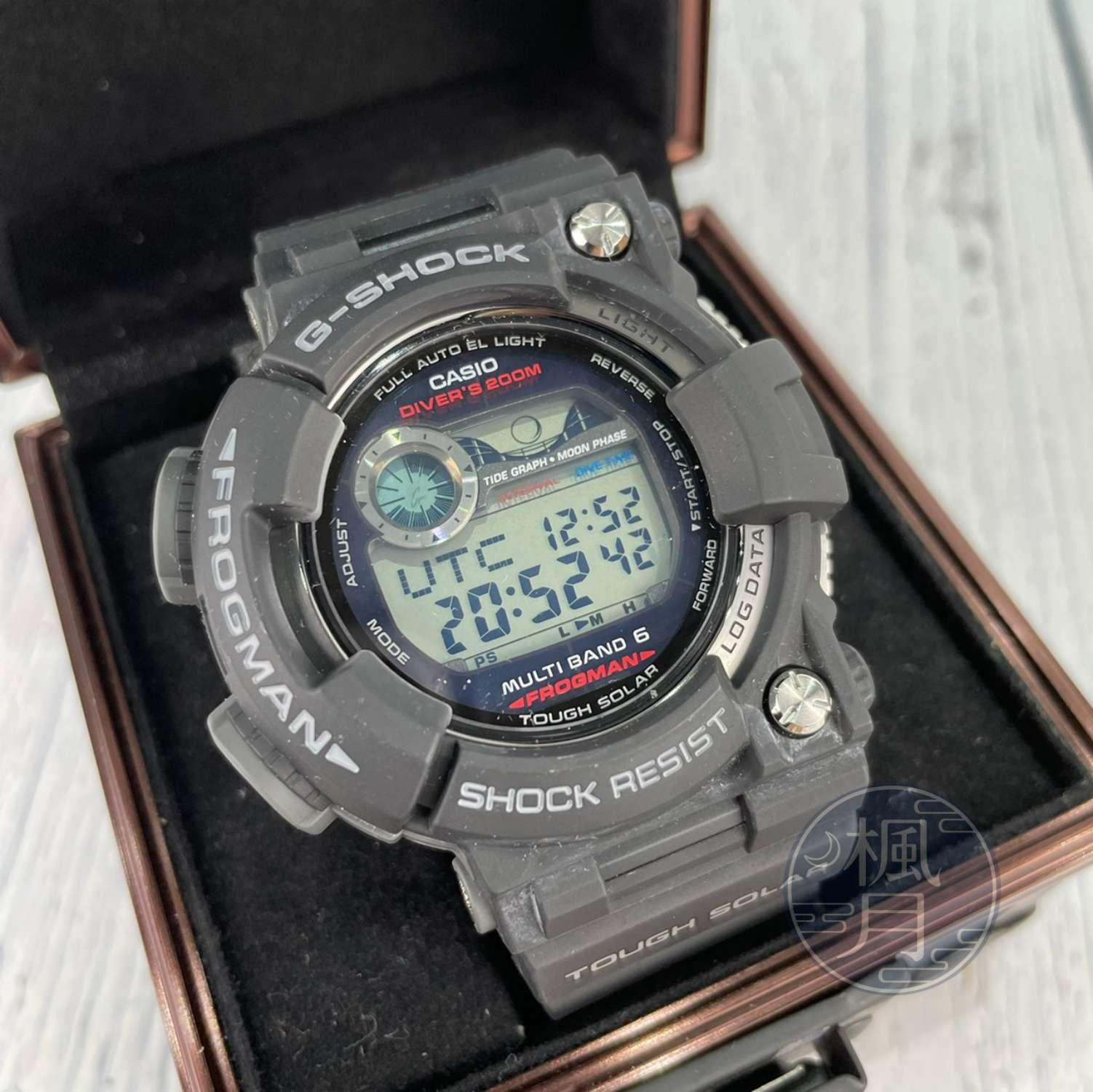 BRAND楓月 CASIO 卡西歐 G-SHOCK GWF-1000 黑色橡膠表帶 光動能 數字錶 電子錶