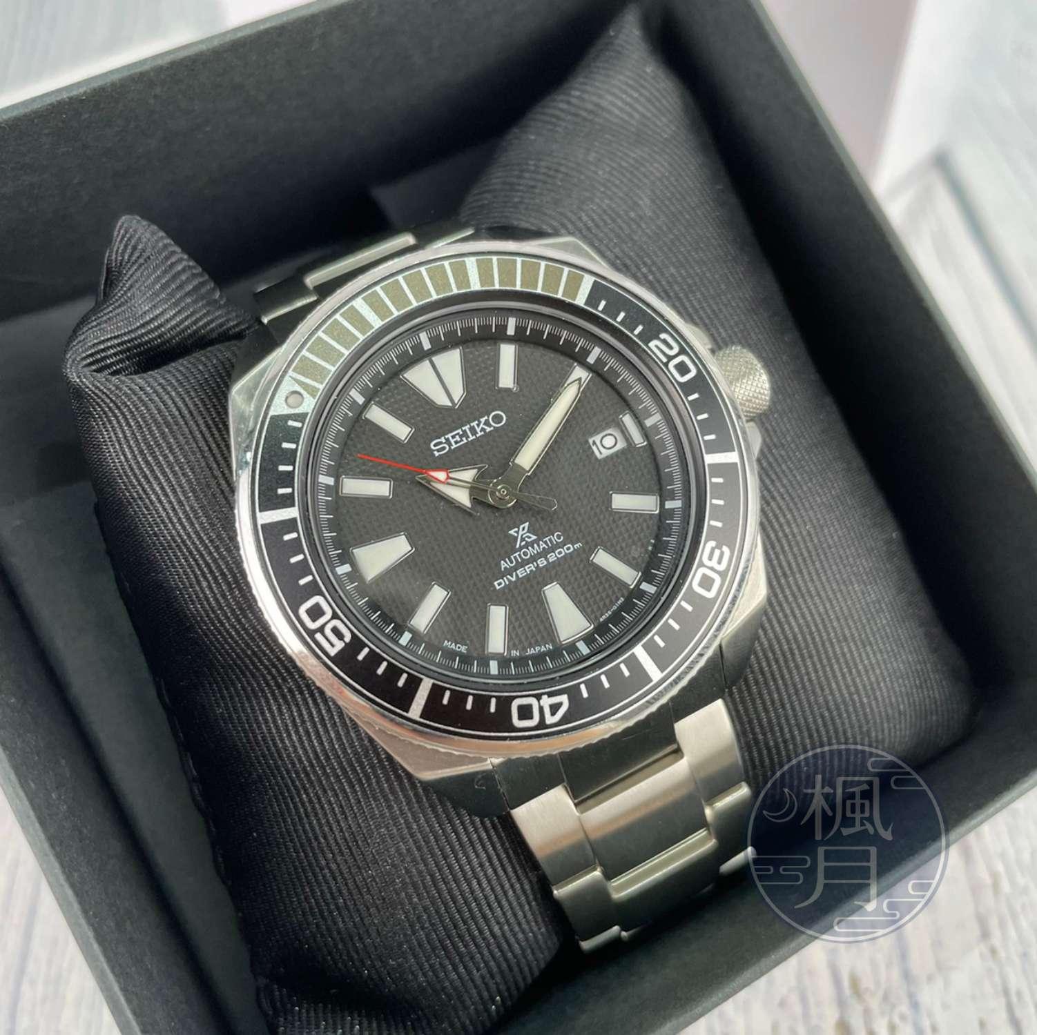 BRAND楓月 SEIKO 精工 4R35-01V0D PROSPEX DIVER SCUBA 黑色機械錶 防水200M