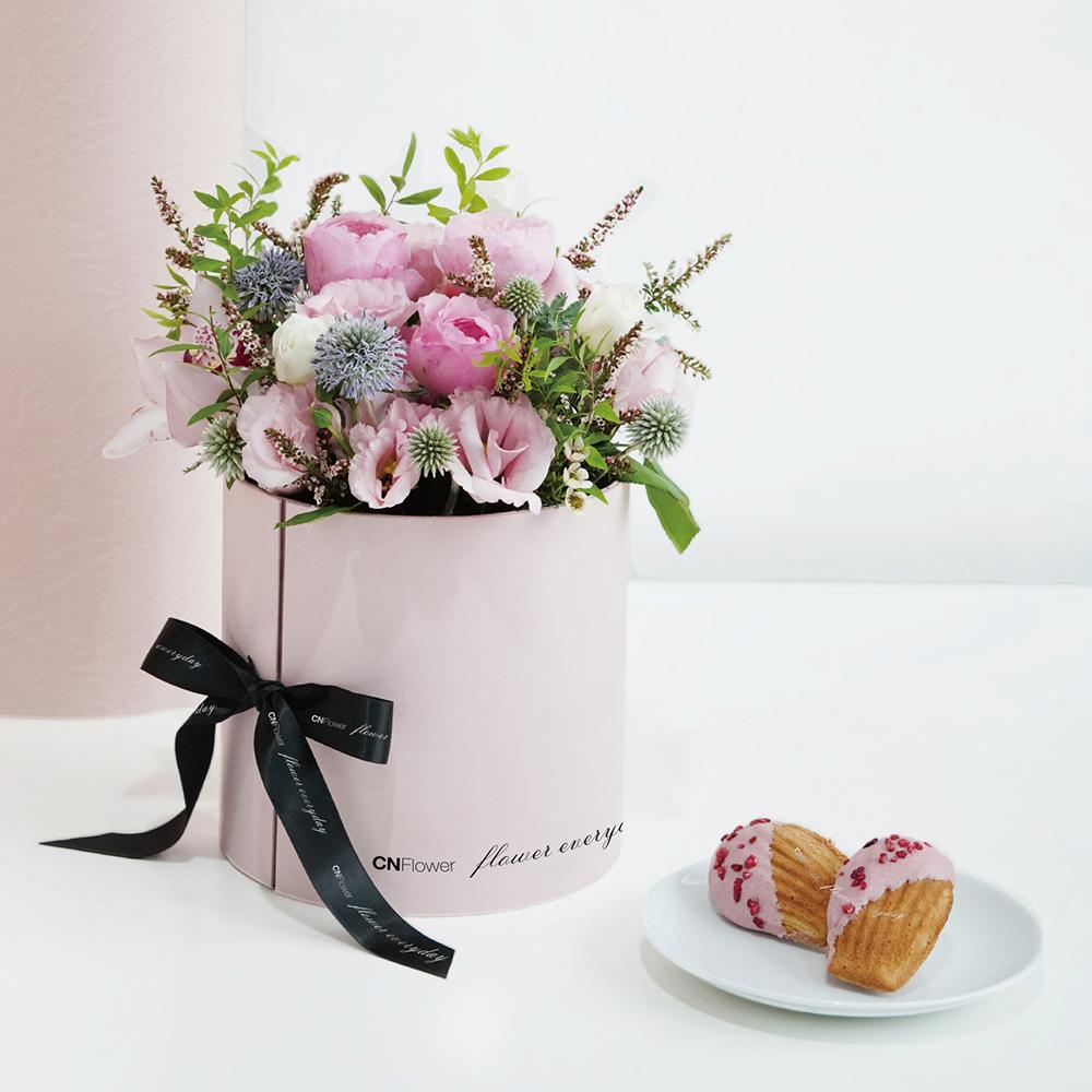 【法朋聯名七夕限定款】Pink Roses 甜點花禮 (粉色雙層禮盒)