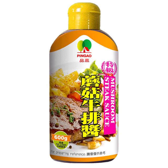 品高 蘑菇牛排醬(600g) 現貨 燒肉 牛排 烤肉 菇 黑胡椒 醬油膏 胡椒粒 醬油 牛排醬 蘑菇醬