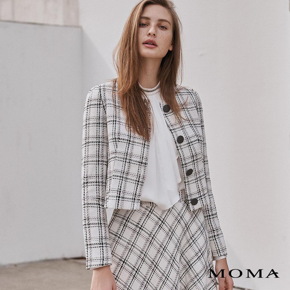 MOMA(02J070)氣質格紋外套