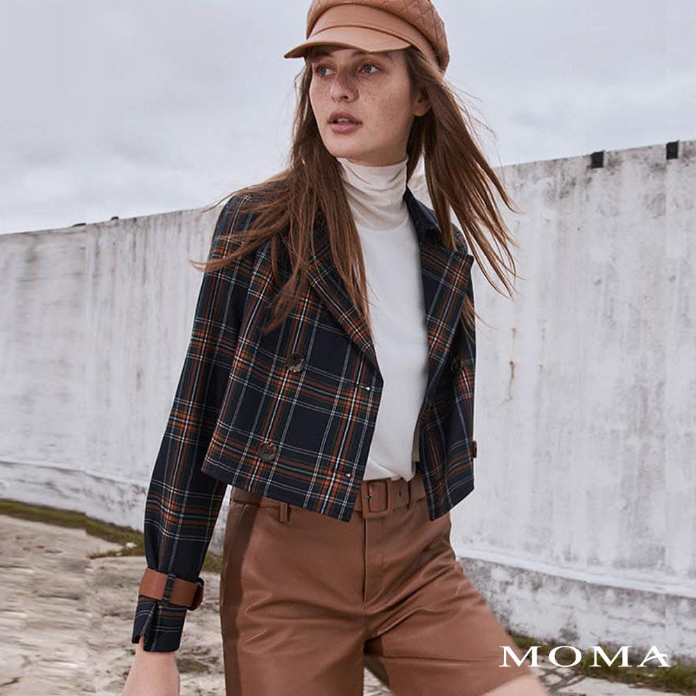 MOMA(02J065)格紋西裝外套