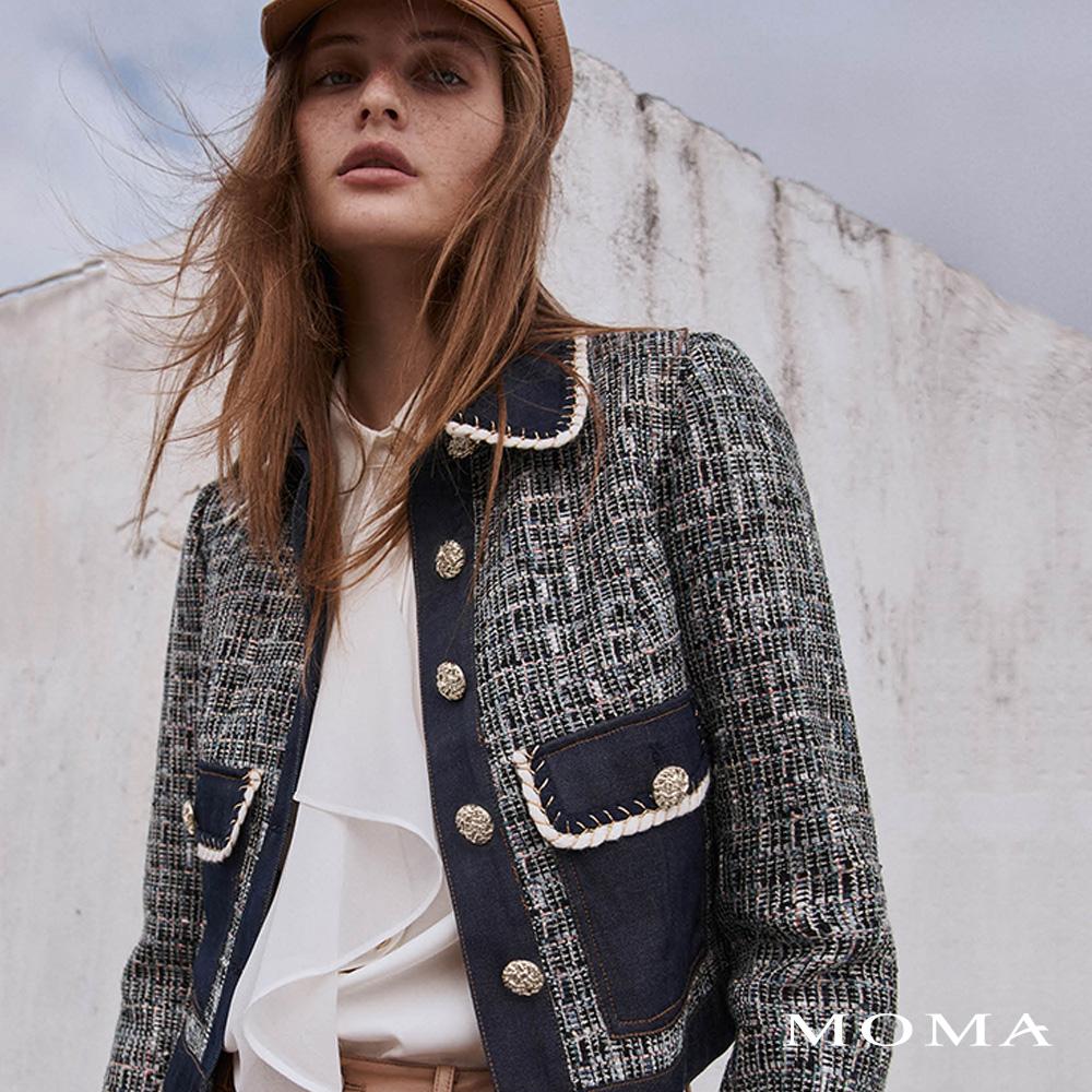 MOMA(02J068)牛仔花呢外套