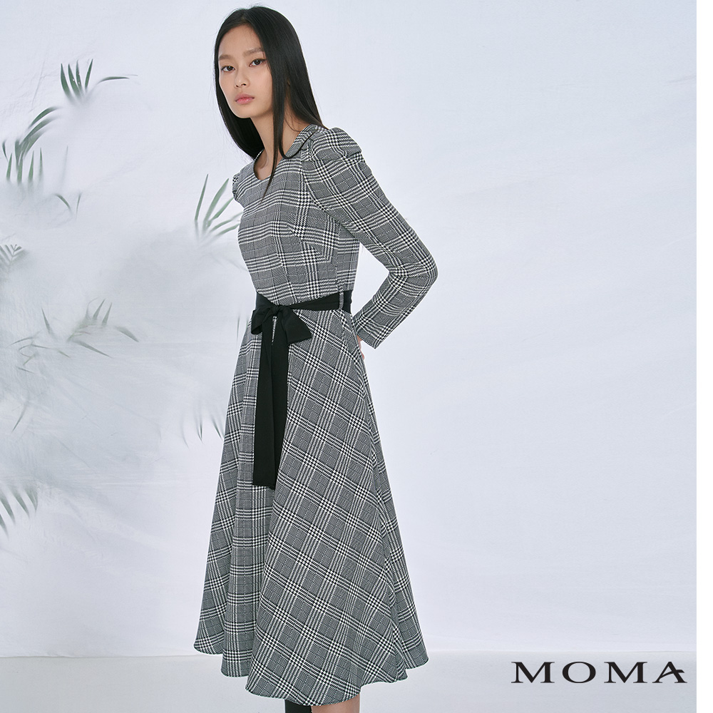MOMA(02D067)千鳥格長洋裝