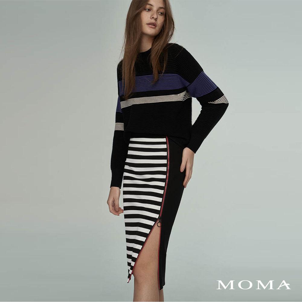 MOMA(02S081)合身拉鍊長窄裙