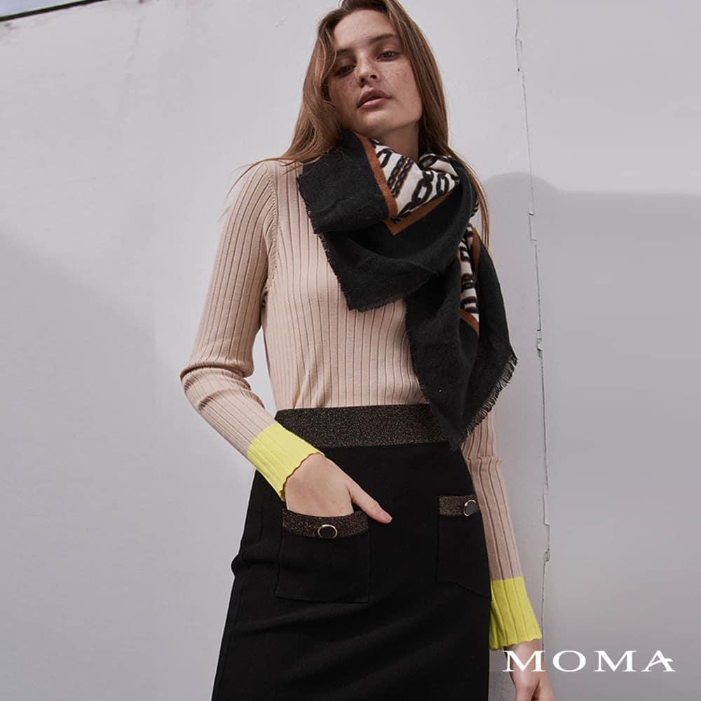 MOMA(02S090)小香風金蔥短裙-剩餘40號