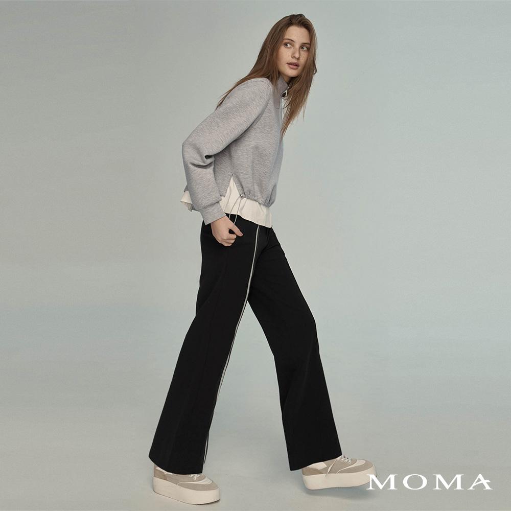MOMA(02P105)精巧撞色繡花長褲