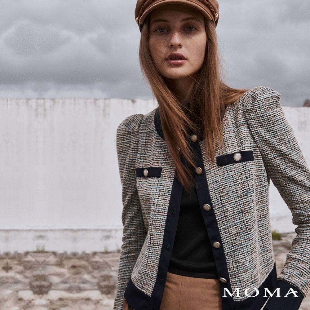 MOMA(02J067)小澎袖花呢外套