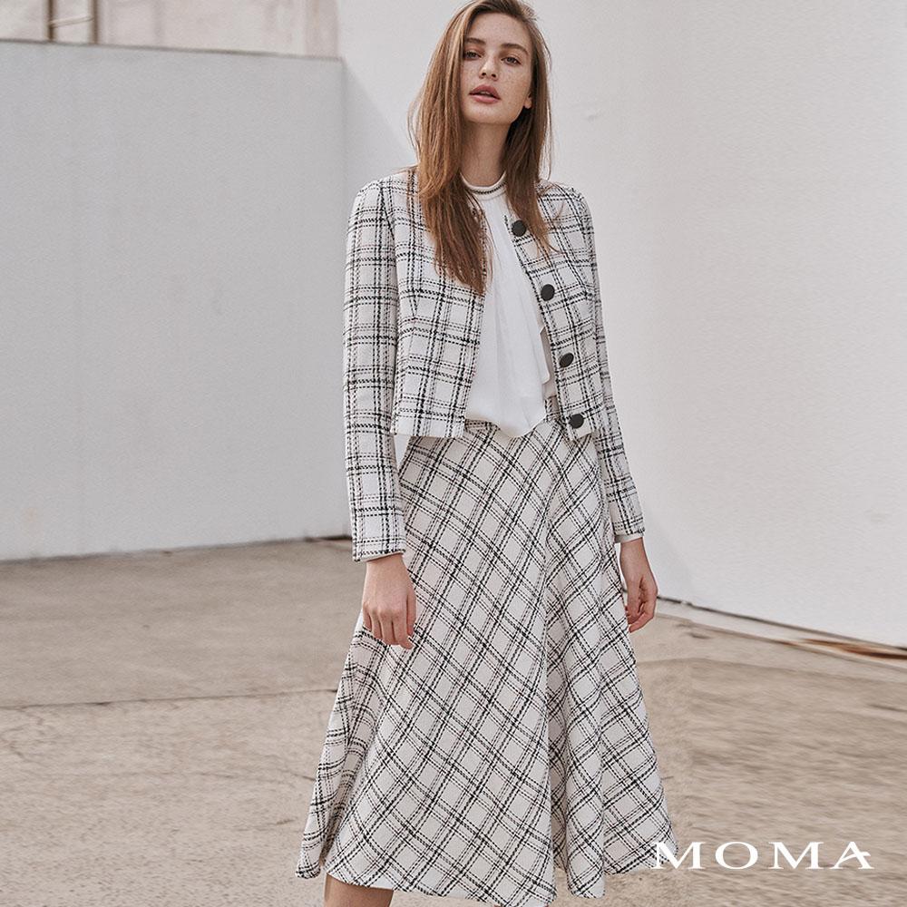MOMA(02S088)氣質格紋長裙