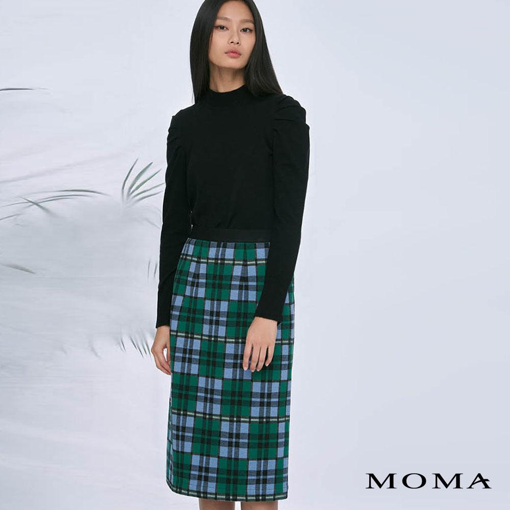 MOMA(02S087)格紋直筒長裙