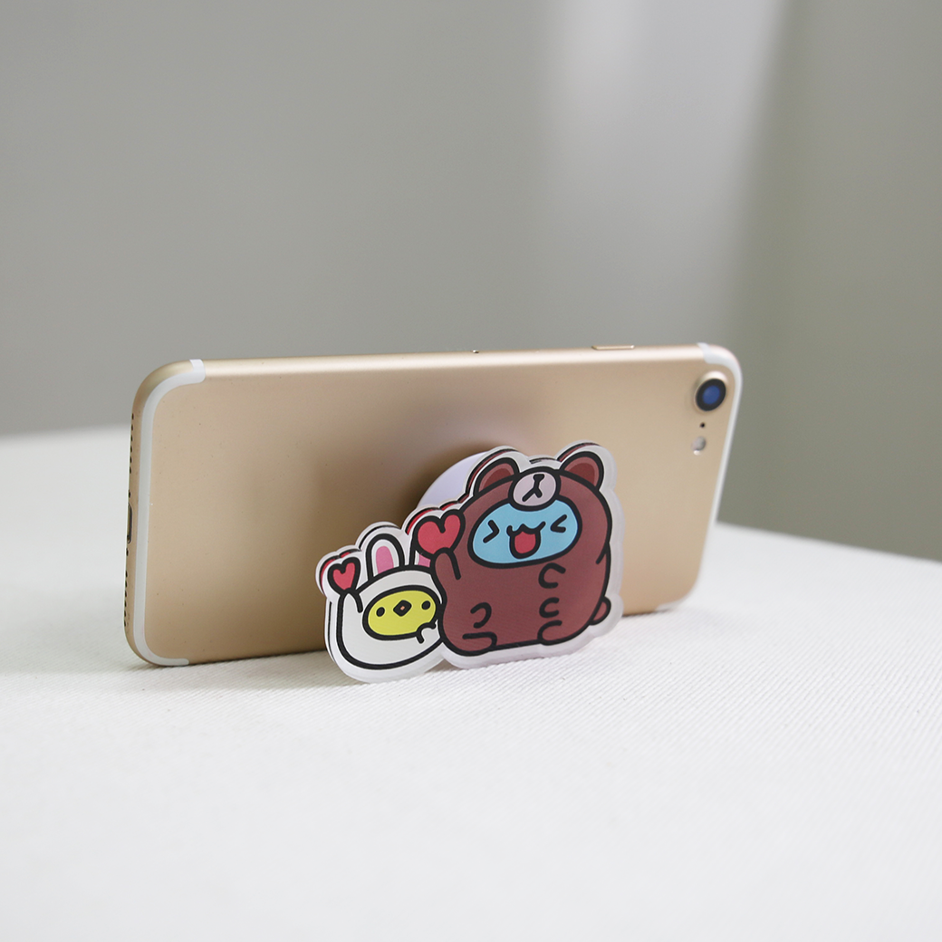 LINE十週年_咖波 X BROWN&FRIENDS-造型手機支架