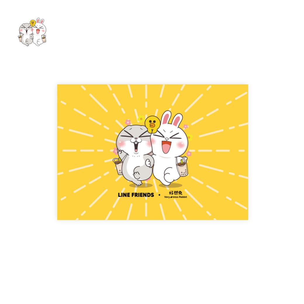 LINE十週年_好想兔 X BROWN&FRIENDS-明信片