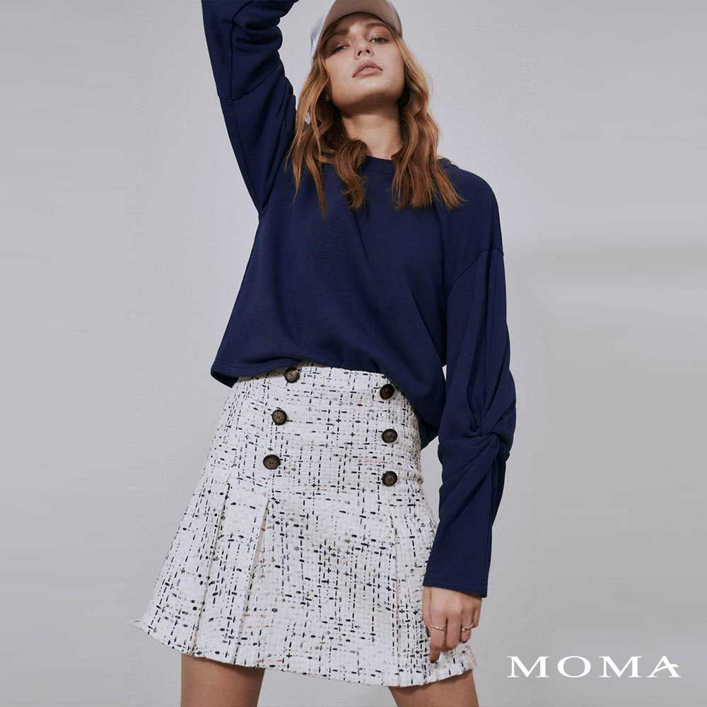 MOMA(02S076)小香風打褶裙-剩餘34號
