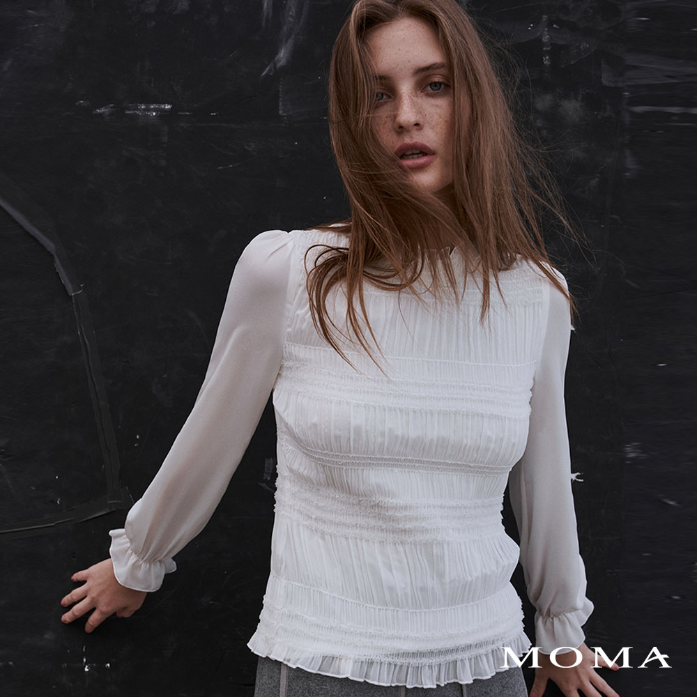 MOMA(02G077)抽皺合身上衣