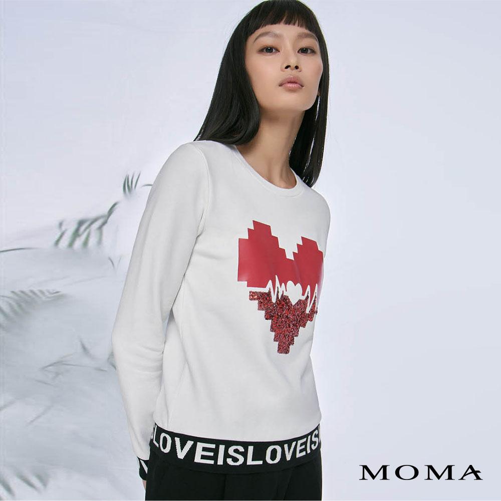 MOMA(02M086)愛心圖案衛衣