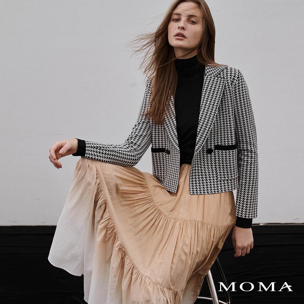 MOMA(02KJ28)千鳥紋雙排釦外套