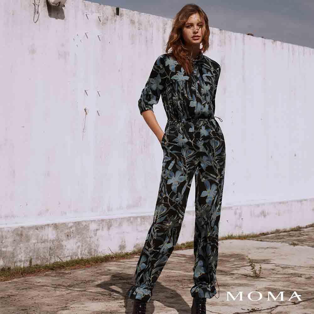 MOMA(02P101)花朵印花連體褲