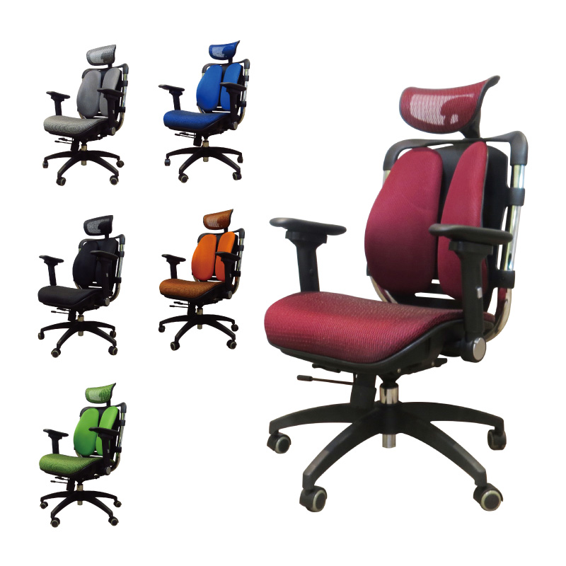 【空間特工】雙背護腰扶手電腦椅 辦公椅 書桌椅 辦公椅 書桌椅 旋轉椅 電競椅 台灣製 透氣網布 WFH 人體工學