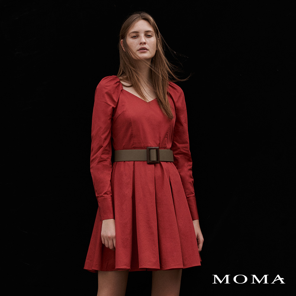 MOMA(02D054)拋袖V領洋裝