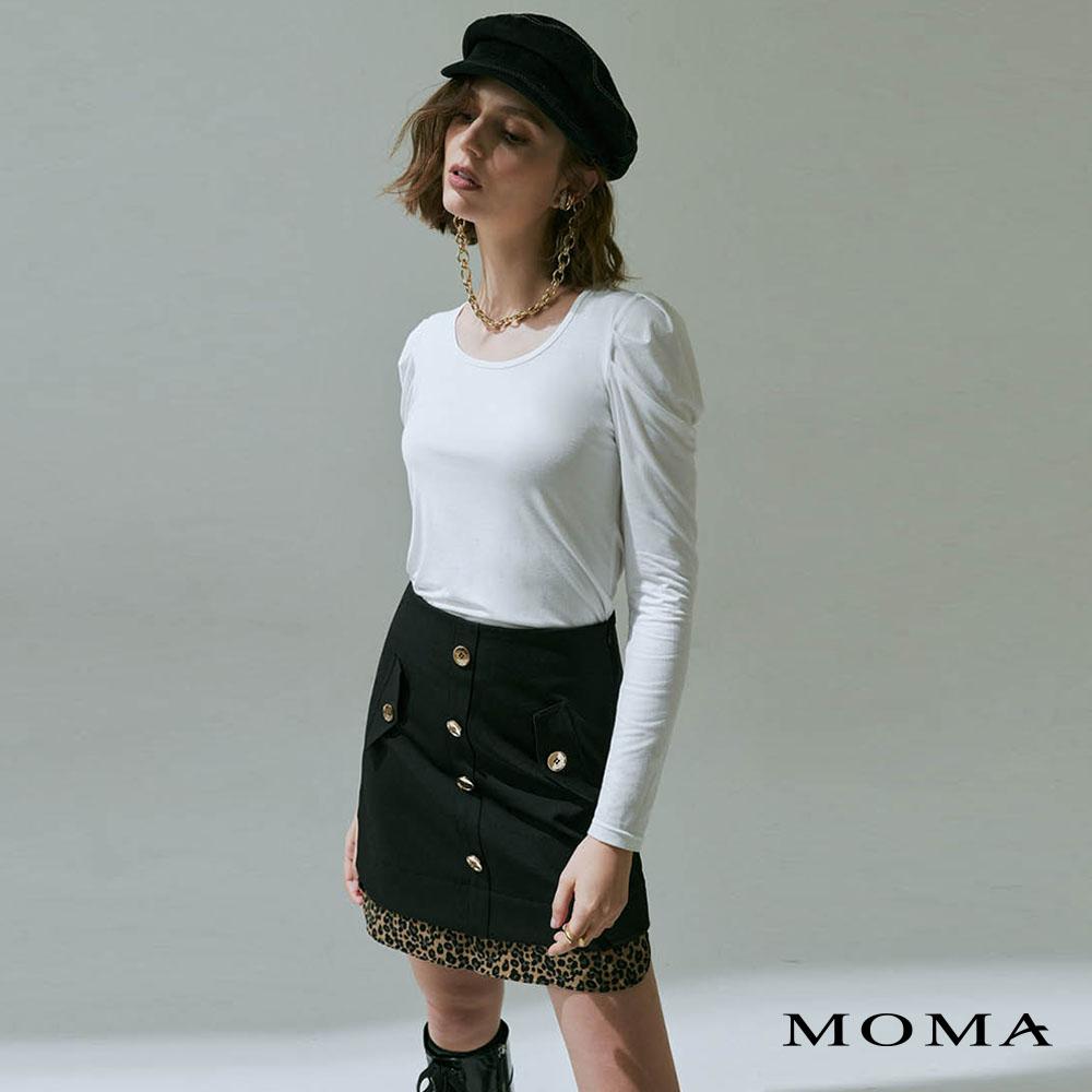 MOMA(02S075)設計款拼接A字裙