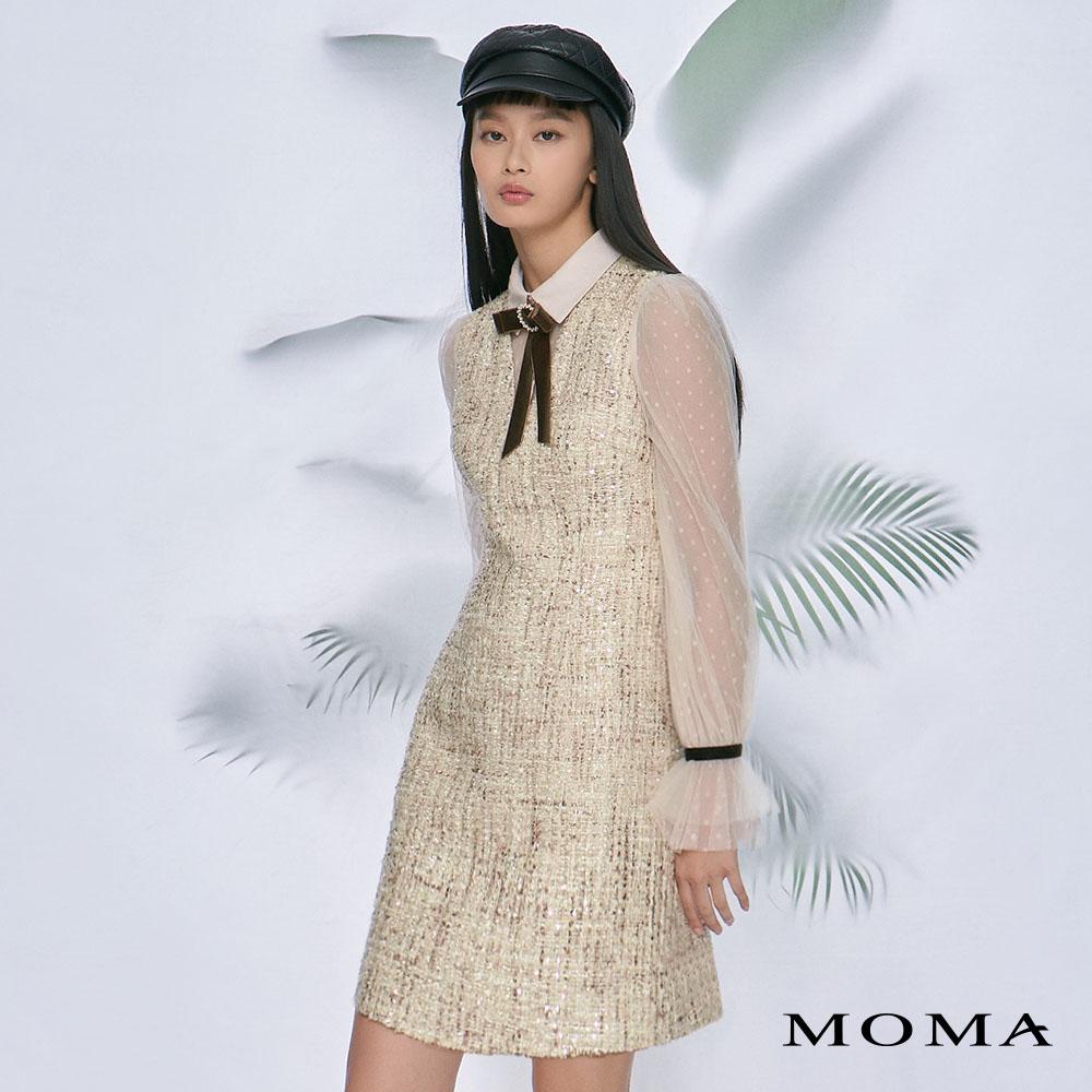 MOMA(02D056)假兩件小香風洋裝