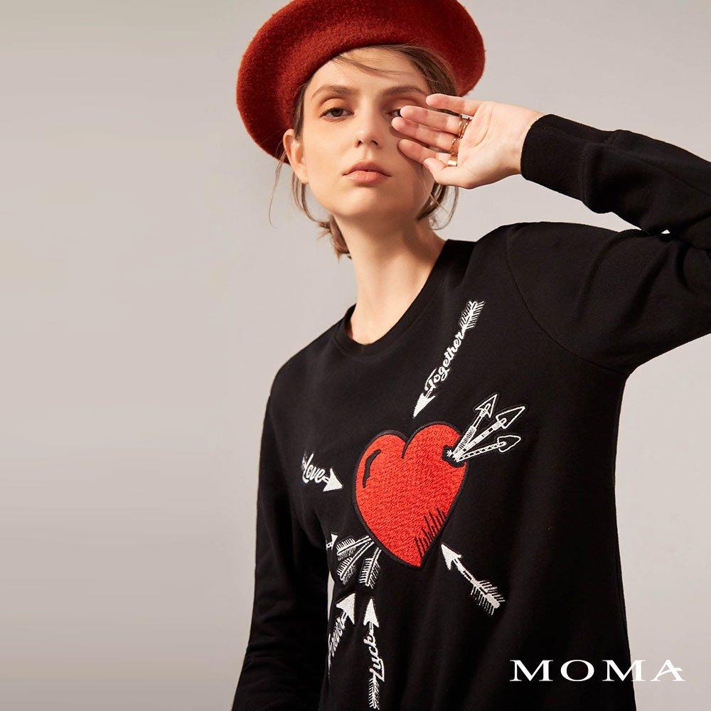 MOMA(02M005)愛心休閒衛衣